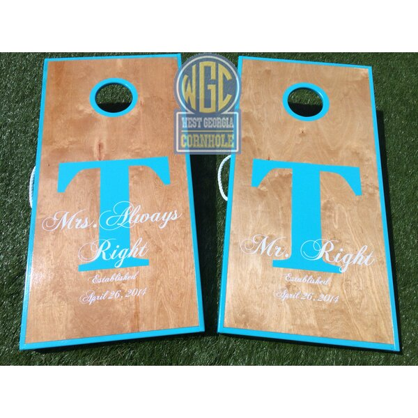 Mr and Mrs Right 10 Piece Cornhole Set by West Georgia Cornhole