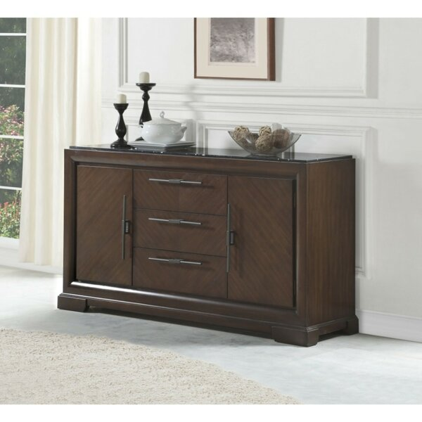 Coley Three Drawers Wooden Credenza
