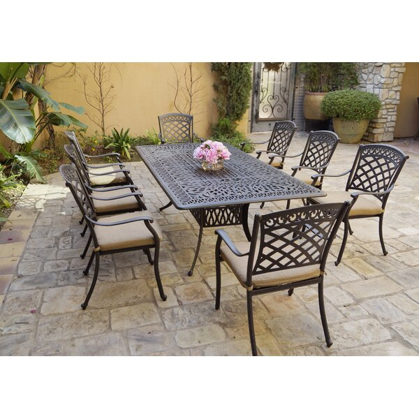 Columbiana 9 Piece Dining Set With Cushions By Fleur De Lis Living