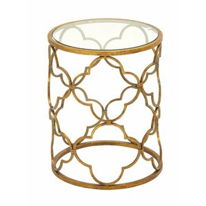 Classic Modern Metal End Table by ABC Home Collection