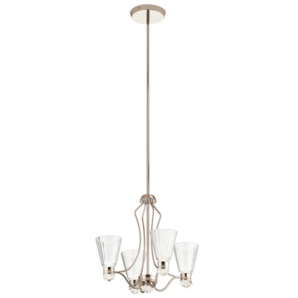 Strout 4 - Light Shaded Classic / Traditional LED Chandelier By Highland Dunes
