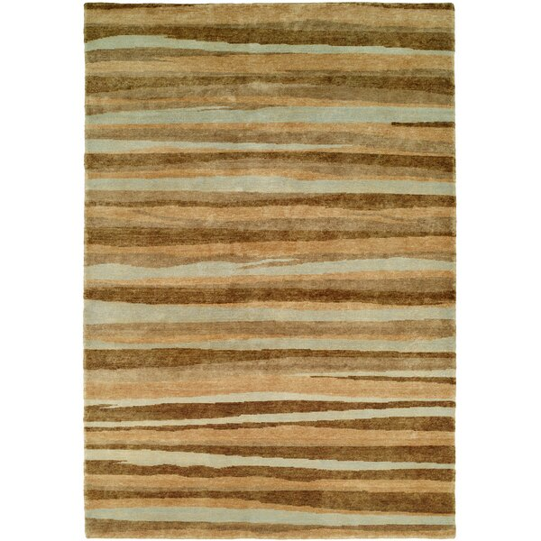 Panama Hand-Knotted Brown/Gray Area Rug by Wildon Home ®