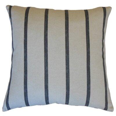Gray, Red, White, Stripes Throw Pillow