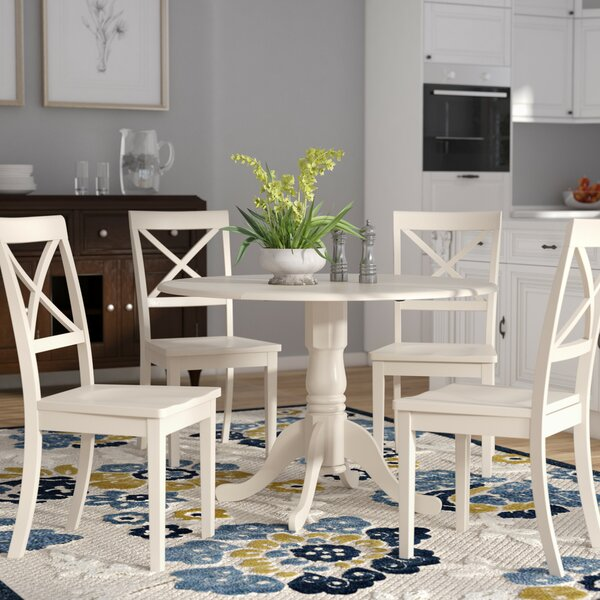 Abrahamic 5 Piece Drop Leaf Dining Set by Andover Mills