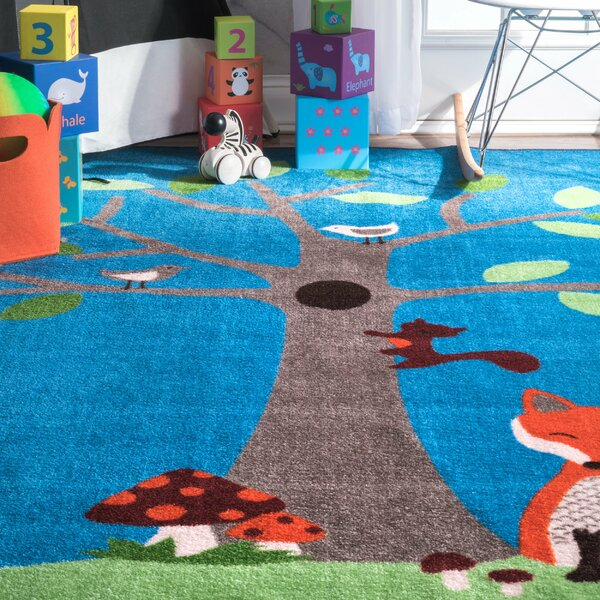 Fremont Blue Area Rug by Zoomie Kids