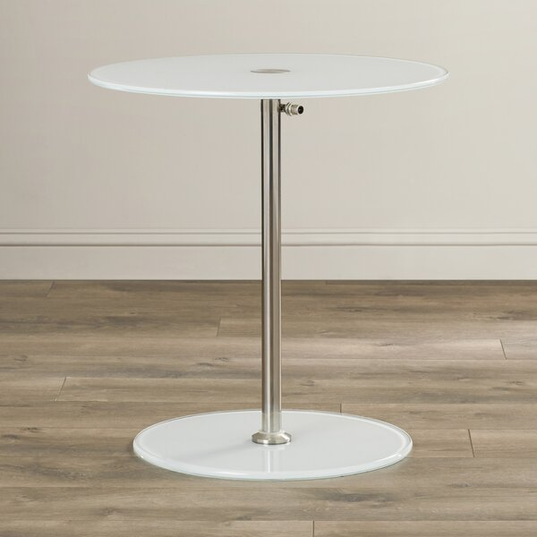 Wilbert Glass End Table by Wade Logan