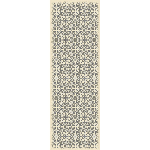 Cousar Quad European Design Gray/Beige Indoor/Outdoor Area Rug by Bungalow Rose