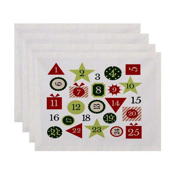 Advent Calendar Geometric Print Placemat (Set of 4) by The Holiday Aisle