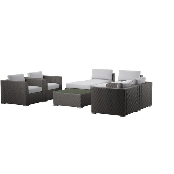 Cabral 8 Piece Rattan Sofa Seating Group with Cushions by Sol 72 Outdoor