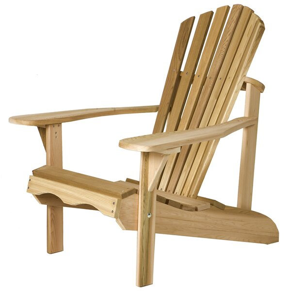 Western Red Cedar Adult Solid Wood Adirondack Chair by All Things Cedar
