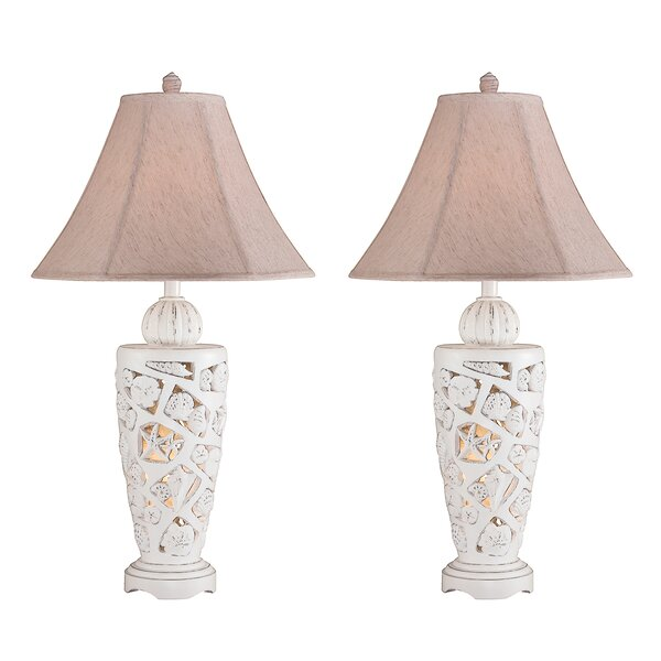 Callan Shell 31 Table Lamp (Set of 2) by Highland Dunes