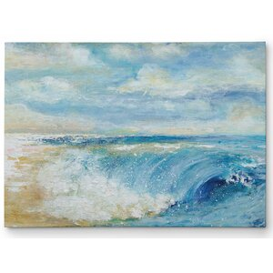 Premium 'The Perfect Wave' by Janet Brignola Painting Print on Wrapped Canvas by Wexford Home