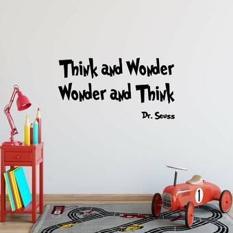 DR SEUSS  Quote  Think Left...vinyl wall decal