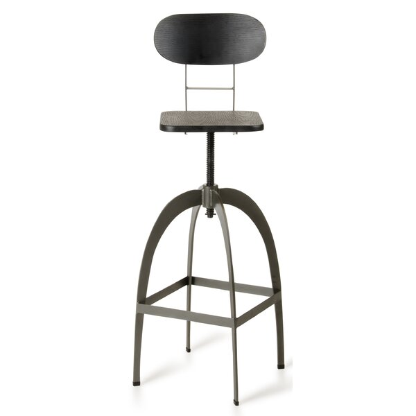 Sheree Adjustable Height Swivel Bar Stool by 17 Stories