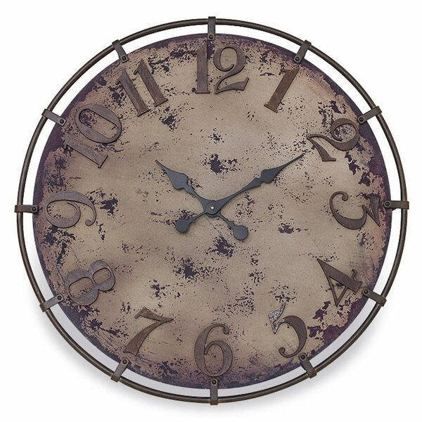 Oversized Monsour Oil Drum Cover 30.25 Wall Clock by Williston Forge