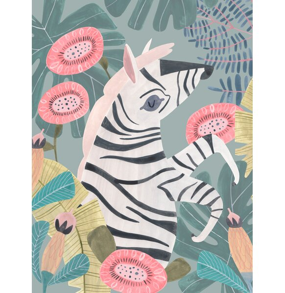 Zebra in the Jungle by Rae Ritchie Canvas Art by Oopsy Daisy