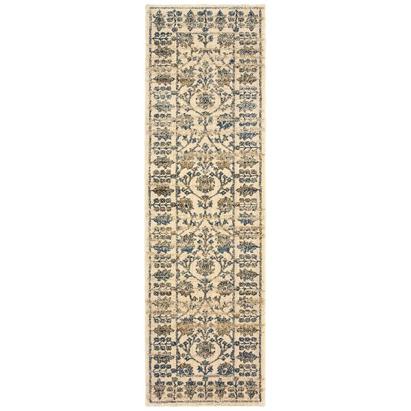 Quenby Traditional Ivory/Blue Area Rug by Bloomsbury Market