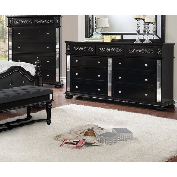 Orrington 9 Drawer Double Dresser by Everly Quinn