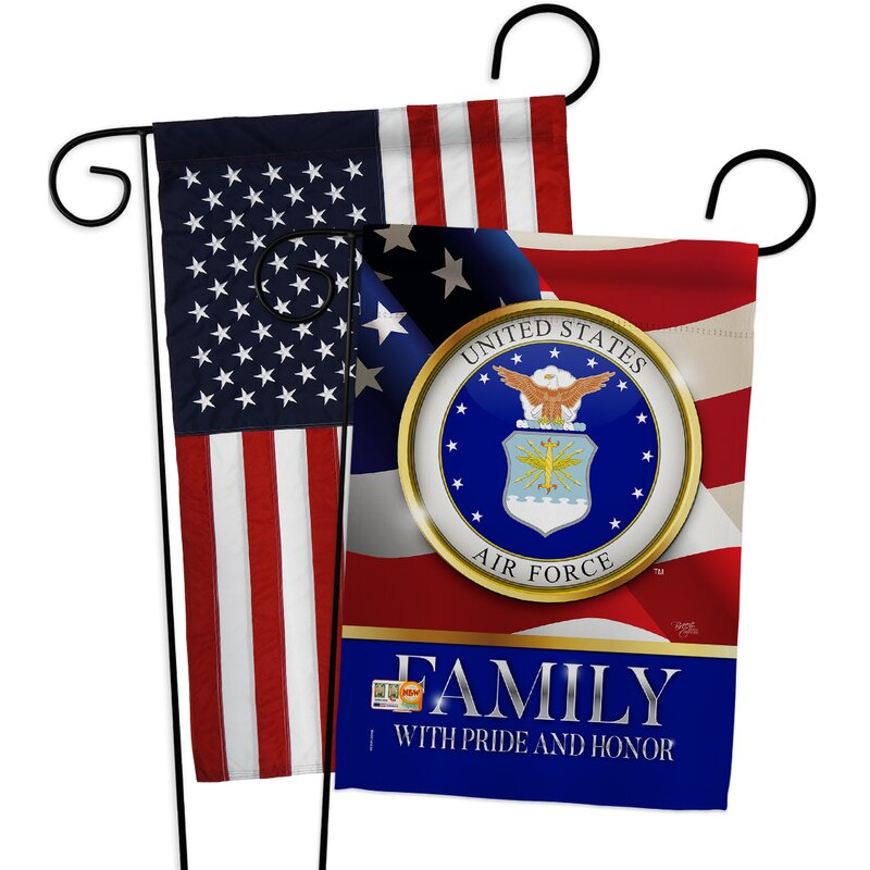 Breeze Decor American Coast Guard Family Honor Impressions Decorative American Applique 2 Sided Polyester 19 X 13 In Garden Flag Wayfair