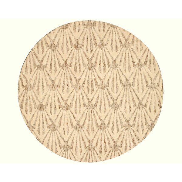 Hand Tufted Ivory Area Rug by The Conestoga Trading Co.