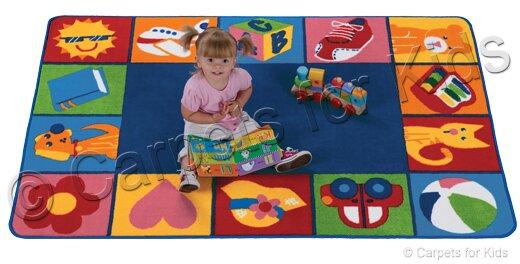 Emerado Toddler Blocks Area Rug by Zoomie Kids