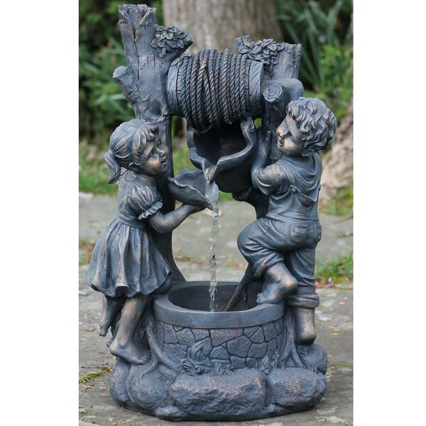 Resin Children at the Well Patio Garden Water Fountain by Northlight Seasonal