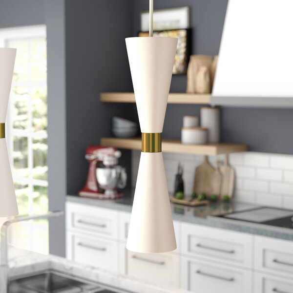 Faith 1-Light Geometric Pendant by Langley Street