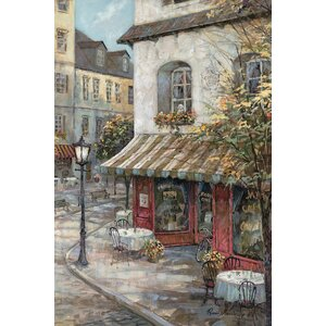 'My Favorite Café' Painting Print on Canvas by East Urban Home