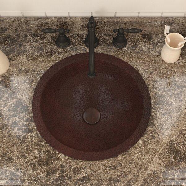 Magnus Series Metal Circular Drop-In Bathroom Sink by ANZZI