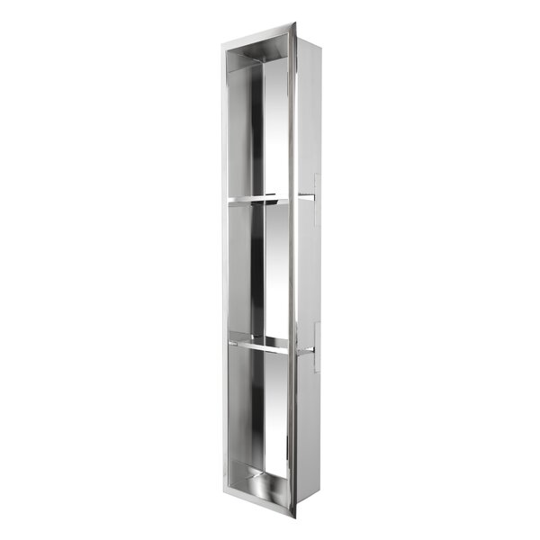 Vertical Stainless Steel Triple Shower Niche by Alfi Brand