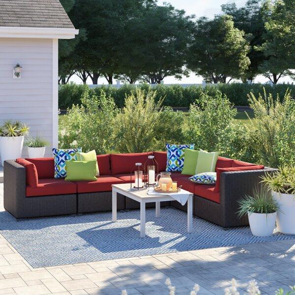 Fairfield Patio Sectional with Cushions by Sol 72 Outdoor
