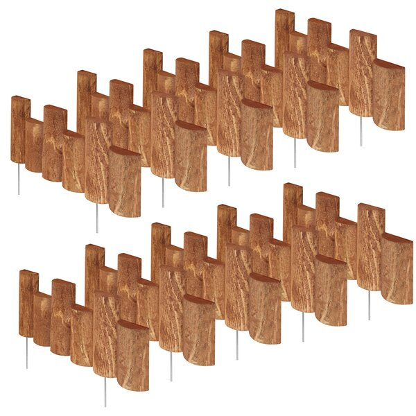 7 in. H x 18 in. W 10 Pack Half Log Edging (Set of 10) by Greenes Fence