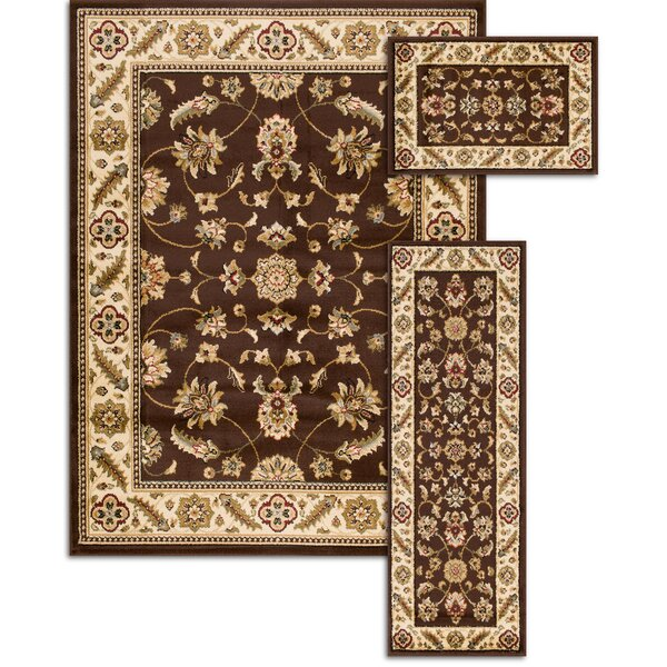 Penfield Brown 3 Piece Area Rug Set by Threadbind