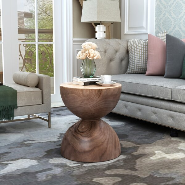 Seybert Solid Wood Pedestal End Table by Foundry Select Foundry Select