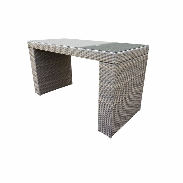 Romford Wicker Bar Table by Sol 72 Outdoor Sol 72 Outdoor