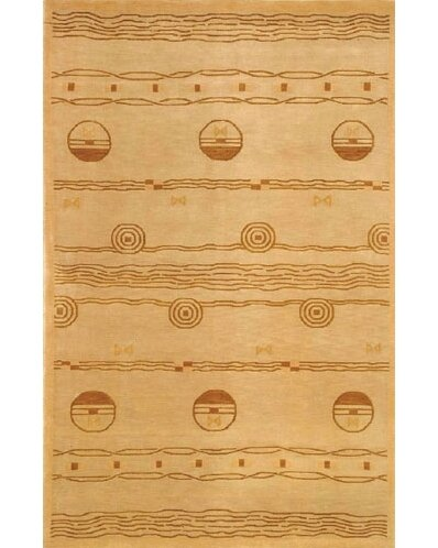 Neo Nepal Ocean Vibes Gold Area Rug by American Home Rug Co.