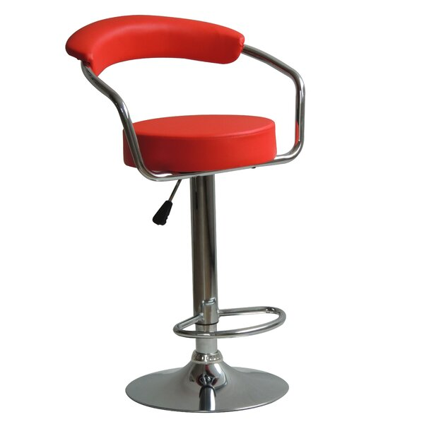 Brasher Adjustable Height Swivel Bar Stool By Corrigan Studio