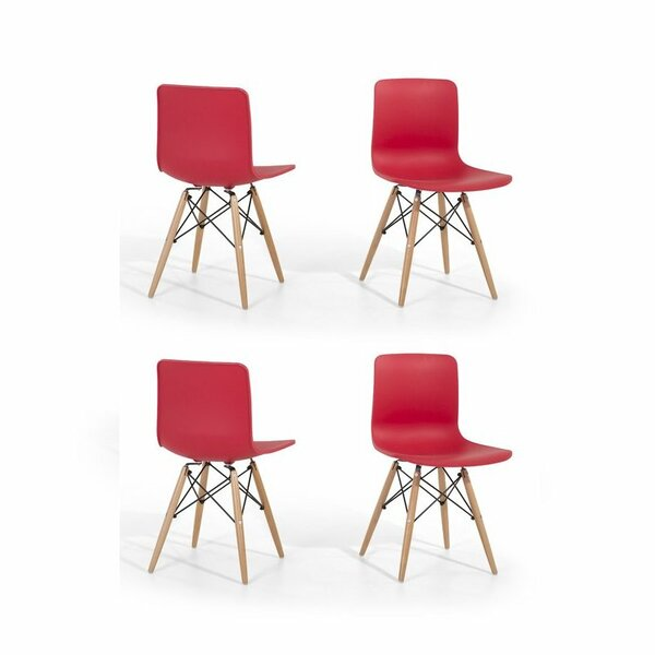 Eiffel Style Bobbitt Solid Wood Dining Chair (Set of 4) by Brayden Studio