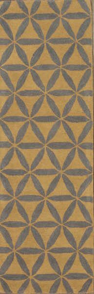 Kason Agra Oriental Hand-Tufted Wool Brown/Blue Area Rug by Brayden Studio