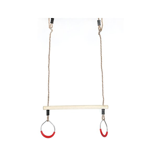Kids Swing Bar Rings Trapeze with Hanging Ropes by PLAYBERG