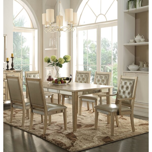 Leanora 7 Piece Extendable Dining Set by Andrew Home Studio