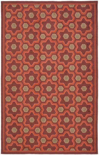 Puzzle Choc Cosmos Brown Area Rug by Martha Stewart Rugs