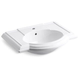 Compare prices Devonshire® Ceramic 28 Pedestal Bathroom Sink with Overflow By Kohler