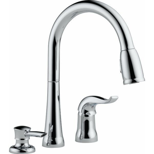 Kate Pull Down Single Handle Kitchen Faucet with Diamond Seal Technology and MagnaTite® Docking by Delta