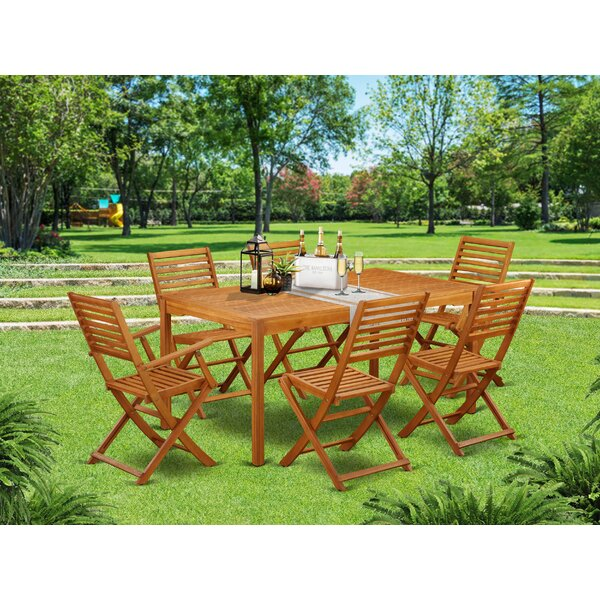 Raymundo 7 Piece Patio Dining Set by Longshore Tides