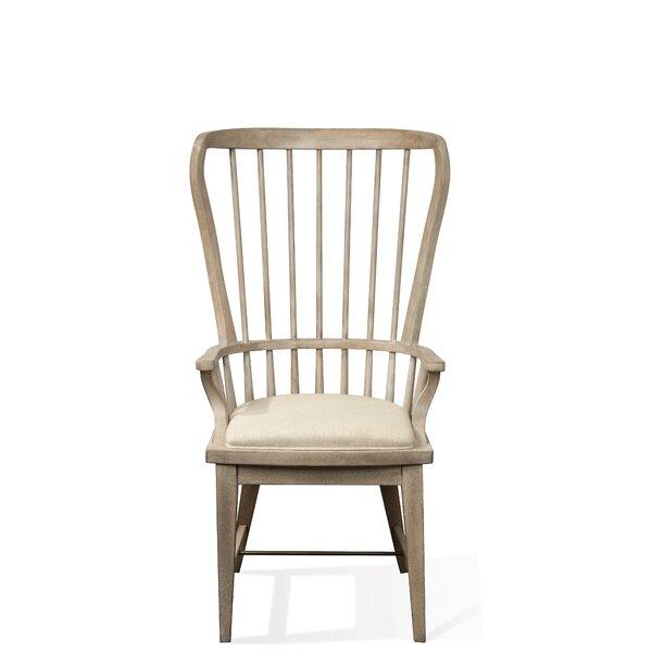 Onida Solid Wood Windsor Back Arm Chair In Natural By Birch Lane�?� Heritage