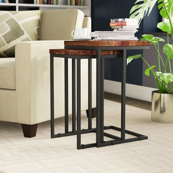 Lineberger 2 Piece Nesting Table Set by Brayden Studio