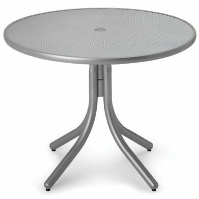 Embossed Aluminum 36 Round Bar Table by Telescope Casual