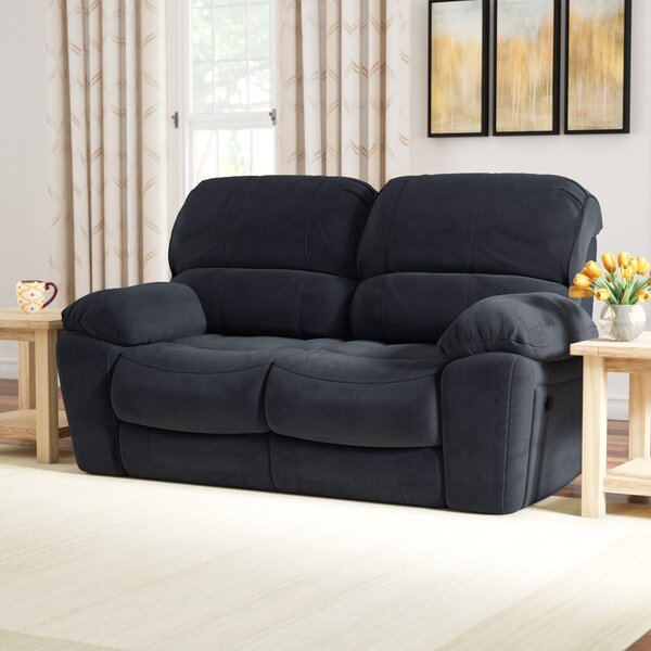 Perfect Quality Rashida Modern Upholstered Reclining Loveseat New Seasonal Sales are Here! 65% Off