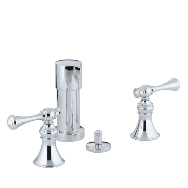 Revival Vertical Spray Bidet Faucet with Traditional Lever Handles by Kohler